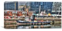 Liverpool - Old and New in Harmony, Canvas Print