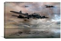 B-17 Flying Fortress - Almost Home, Canvas Print