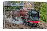 6233 Duchess of Sutherland , Canvas Print