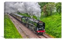 70013 BR Standard Class 7 Oliver Cromwell, Canvas Print