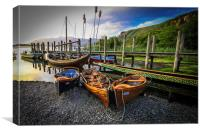 A little of Venice on Derwent Water, Canvas Print