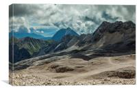 From the Zugspitze, Canvas Print