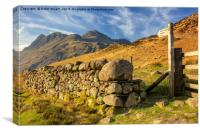 The Langdale Pike, Canvas Print