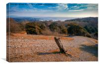 Carnforth from the top of Arnside Knott, Canvas Print