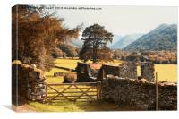 Lake District Hikking in Patterdale, Canvas Print