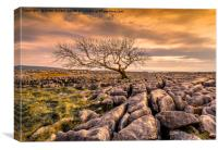 Twistleton Scar in the Yorkshire Dales, Canvas Print