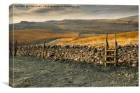 Kingsdale  from Twistleton End, Canvas Print
