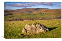 Gragareth from Ingleborough, Canvas Print