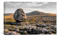 Ingleborough Erratic, Canvas Print