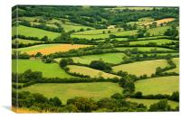 Patchwork of countryside, Canvas Print