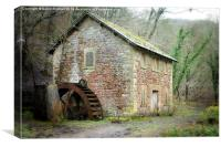 The Old Watermill, Derbyshire, Canvas Print