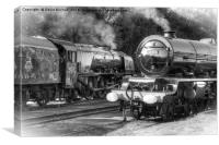 Stanier Pacifics at Swanwick, Canvas Print
