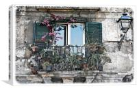 A Balcony in Palermo, Canvas Print