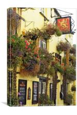 Golden Lion pub, Padstow, Cornwall, Canvas Print