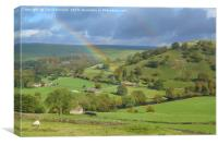 Yorkshire Dales Rainbow, Canvas Print