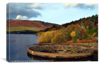Overflow At Ladybower Reservoir, Canvas Print