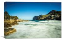 Cala after the storm, Canvas Print
