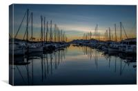 Reflections in Puerto Pollensa, Canvas Print