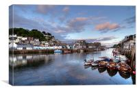 Early evening at Looe, Canvas Print