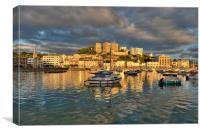Golden Hour Torquay Harbour, Canvas Print