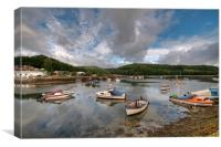 Clouds gather on the River Looe, Canvas Print