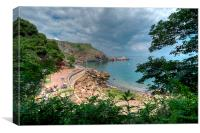 Ansteys Cove looking towards Long Quarry Point, Canvas Print