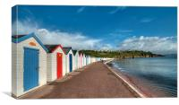 Broadsands Beach Huts early morning , Canvas Print
