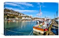 Fishing boat on the Looe River , Canvas Print