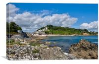 Looking towards East Looe and The Banjo Pier, Canvas Print