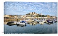 Cloud Reflections early evening at Torquay Harbour, Canvas Print