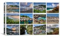 A collage of twelve beautiful Cornish views, Canvas Print
