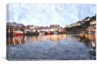 Early evening reflections at Looe in  Cornwall, Canvas Print