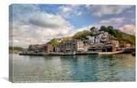 Looking over the Looe River towards East Looe , Canvas Print