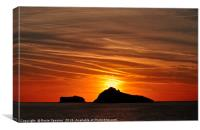 Thatcher Rock and The Orestone at sunrise , Canvas Print