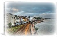 The Flying Scotsman passing Dawlish in South Devon, Canvas Print