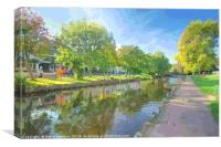 Colourful reflections at Dawlish Brook in Devon, Canvas Print