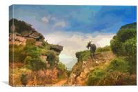 Goat at Valley of The Rocks North Devon, Canvas Print