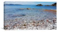 Clear turquoise water at Breakwater Beach Brixham, Canvas Print