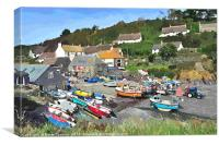 Cadgwith Cove on the Lizard Peninsula in Cornwall, Canvas Print