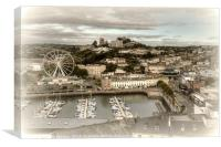 Looking down on Torquay Harbour and Town, Canvas Print