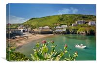 Looking down on Port Isaac in North Cornwall, Canvas Print