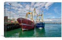 Fishing Trawlers at Brixham, Canvas Print