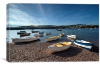 Early evening on the River Teign at Shaldon, Canvas Print