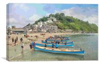 Round the island race at Looe in Cornwall, Canvas Print