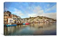 Early morning on The River Looe in Cornwall, Canvas Print