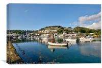An early peaceful morning on the Looe River , Canvas Print