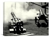 The Cannons, Canvas Print