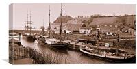 Charlestown Harbour Cornwall Tall Ships, Canvas Print