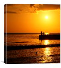 A Winter Sunset In Mallorca, Canvas Print