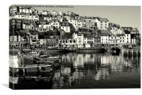 Brixham On A January Day, Canvas Print